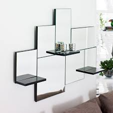 34 wall shelves with mirror wooden shelf frame