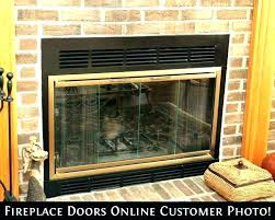 superior fireplace parts glass manual for door modern replacement