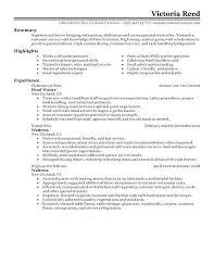 Catering Server Resume Interesting Server Resume Template Free Restaurant Server Resume Template Free