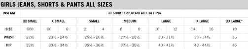Aeropostale Juniors Size Chart Aeropostale Size Chart Guys Pants Best Style Pants Man And