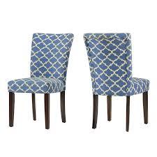 Light Wood Upholstered Dining Chairs Amazon Com Modhaus Modern Light Blue Fabric Moroccan