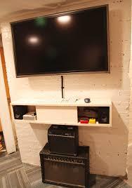 Living Room Media Cabinet Diy Floating Media Shelf For The Home Pinterest Tvs Kitsch