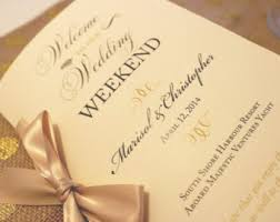wedding booklet etsy Wedding Booklet welcome wedding booklets, gold wedding booklets, wedding welcome letter, wedding timeline, welcome wedding booklet templates