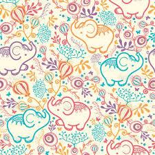 Elephant Pattern Stunning Elephant Pattern Background Elephants With Flowers Seamless
