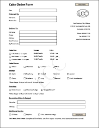 Printable Order Formmplate Fundraiser Application Free Cake Entry ...