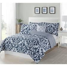 studio 17 anson damask navywhite 5 piece fullqueen comforter set with navy blue damask bedding