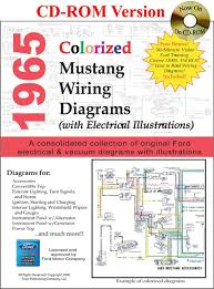 1964 1973 ford mustang vacuum and wiring diagrams 1965 ford mustang colorized wiring diagram