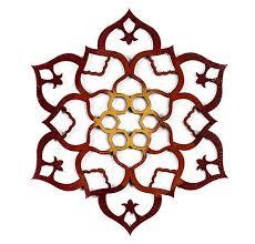 wood mandala moroccan wall art flower