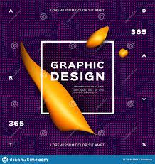 Fluid App Design Geometric Gradient Purple Background Fluid Yellow Shapes