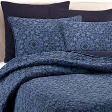 Buy Cotton 100 Cotton Quilt from Bed Bath & Beyond & Real Simple® Aria Twin Quilt in Blue Adamdwight.com