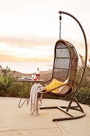 Willow Swingasan Light Brown Hanging Chair | Wrought iron, Rattan and Iron
