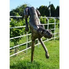 large iron cheetah garden sculpture