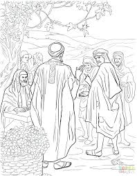 Parable Of The Talents Coloring Page And Simple Parable Of The Great