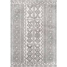 hurley tribal gy ivory 5 ft x 8 ft area rug