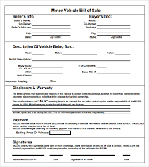 Vehicle Bill Of Sale Template Fillable Pdf Cycling Studio