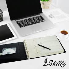 com skittz business check binder 7 ring 3 on a page checkbook holder w zip pouch office s
