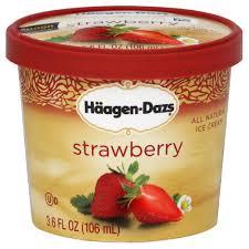 photo of haagen dazs ice cream strawberry 3 6 fl oz 106 ml