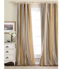 gold and gray silk curtains | Luxury Bedding by Eastern Accents - Memoir  Silk Stripe Collection