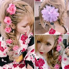 八乙女 凛華 Doll420 على تويتر 浴衣 派手髪 盛り髪 浴衣ヘア