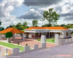 Single Floor L Shape Home  Sq Ft Kerala Home Design And - House plans with photos of interior and exterior
