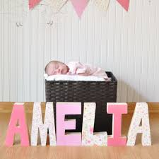 decorative wooden letters perfect gift for new baby