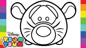 Coloring Tigger Tsum Disney Pixar Tsum Tsum Coloring Pages For