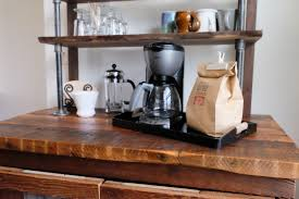 Image of: Simple Coffee Station Table