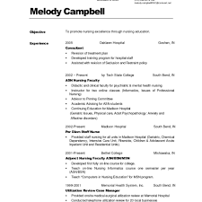 Examples Of Resumes For Nurses Simple Nursing Resume Sample Within