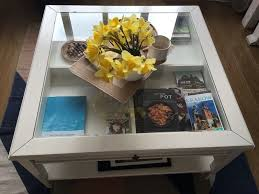 liatorp coffee table ikea white wood and glas