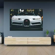 Ettore bugatti, a great lover of. Bugatti Veyron Sports Car Poster Wall Sticker Blue Side Studio