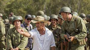 Bullets pierce flesh in slow motion, explosions toss men in the air, bleeding leg and arm. Review Mel Gibson Overdelivers In Ruthlessly Realistic Hacksaw Ridge