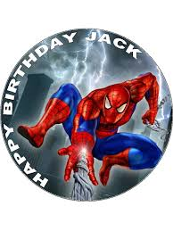 75 Spiderman Personalised Edible Icing Or Wafer Paper Cake Top