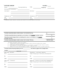 Change Order Forms Construction Form Template Excel Aia