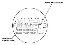 1996 civic coupe window problem honda tech there s a big square relay on the right of the fuse box right above that there should be a sort of rectangular one that s the power window relay