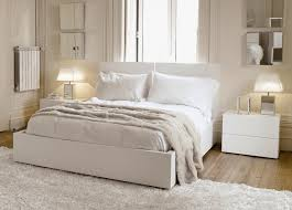 image of simple off white bedroom furniture