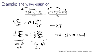 separation of variables and the schrodinger equation