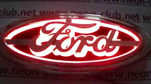 cool ford logos. focus mondeo accessories ford badge custom u0026 emblems emblem replacement with red light up youtube cool logos o