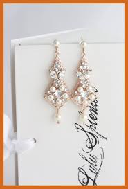 amazing rose gold bridal earrings chandelier vintage wedding ture for pearl styles and necklace ideas cat