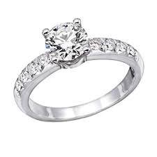 NDSTORE 1.00 cttw IGI Certified Diamond Engagement Ring in <b>14K</b> ...