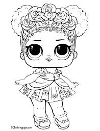 Flower Child Coloring Page Lol Surprise Doll Coloring Pages