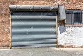 industrial old garage door stock photo 27907385