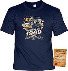 T Shirt 50 Geburtstag Geburtstagsshirt Sprüche Jahrgang 1969 100