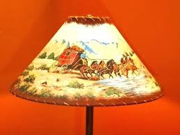 impressive cowboys floor lamp cowboy lamps leather and rawhide trim lamp shade western theme with hand imposing cowboys lamp