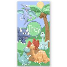 Dinosaur Personalized Kids Beach Towel Beach Towel Personalized