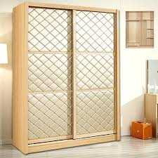 furniture children solid wood sliding door wardrobe assembly of two customized closet