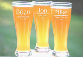 8 groomsmen pilsner glasses personalized beer glass engraved glasses beer mug wedding party gifts gifts for groomsmen 16oz glasses