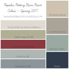 interior paint colors for 2017Popular Pottery Barn Paint Colors Favorite Paint Colors