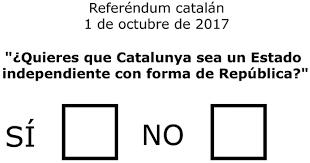 Resultado de imagen de papeletas de votacion hoy en cataluña