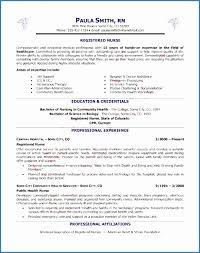 Nursing Resume Examples Free Sample Registered Nurse Resume Samples