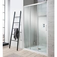 photo of crosswater simpsons edge triple sliding shower door